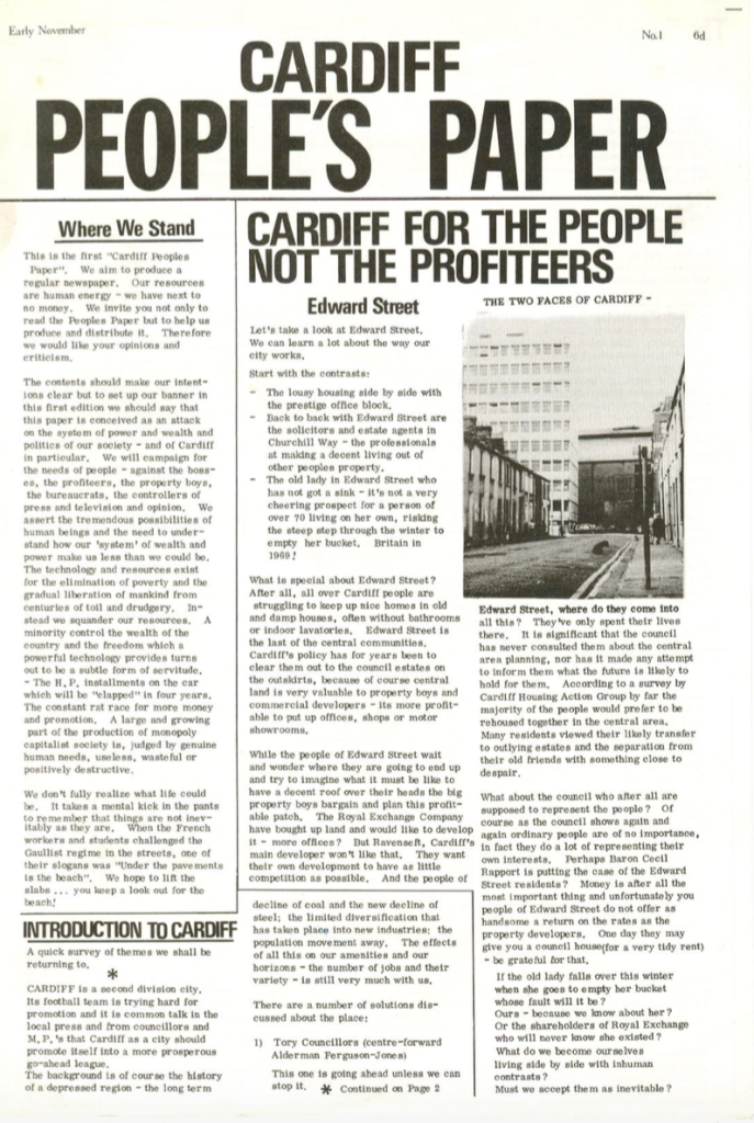 Cardiff Peoples Paper first edition
